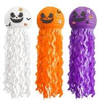 Halloween Lanterne Jellyfish Pumpkin Papier Lanterne Pendentif Haunted Maison Décoration Pending Lanternes Props DWA8622