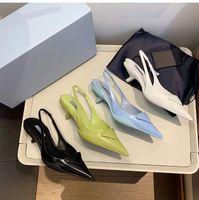 브랜드 여성 샌들 검투사 가죽 여성 샌들 미세 발 뒤꿈치 높은 힐 신발 패션 섹시한 편지 천 여자 구두 큰 크기 34-42