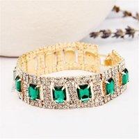 Produttori di gioielli di moda che vendono combinazione brillante Braccialetto di cristallo di pietra del Reno Donne Regali di nozze B021 Braccialetto