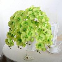 Cyclamen9 Fiori finti Fiori Phalaenopsis Orchidea Artificiale Farfalla Artificiale Fiore di seta Bouquet da sposa Corone decorativo