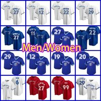 Toronto 4 George Springer Jersey 10 Marcus Semien Blue Jays 27 Vladimir Guerrero Jr. Toronto 99 Hyun-Jin Ryu 8 Cavan Biggio 6 Travis Shaw Baseball Bo Bichette Hommes