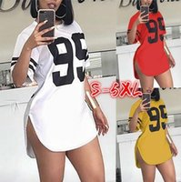 Women's Blouses & Shirts 2021 spring and summer round neck digital printing split short sleeve T-shirt for women MD2036