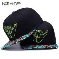 [Hatlander] Marke Stickerei Retro Baseballkappen für Männer Frauen Knochenrückbacks Kenka Black Sports Hüte Straße Kunst Hip Hop Cap Hat 210331