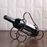 Tabletop Wine Racks Creative S-shaped Portable Rack Retro Nordic Style Red Glass Bottle Holder Wrought Iron Home Window Decoration