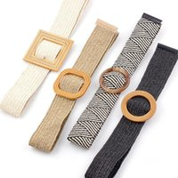Belts PP Grass Men Women Belt Fashion Round Buckle Personality Pair With Jeans Casual Young Canvas Weave Waistband Unisex