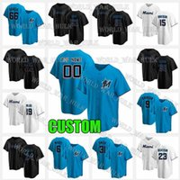 2021 CORY DICKERSON MARLINS Бейсбол Джерси Джонатан Виллар Майами Джон Берти Сэнди Алькантара Хорхе Альфаро Льюис Бринсон Blue Mens Custom