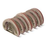 Paspaslar Pedleri 70 adet 7 GRITS Zımpara Kemerleri 3/8 inç x 13 Taşlama Alüminyum Oksit Zımpara 40-320 GRIT