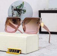 الجملة الكلاسيكية مربع النظارات الشمسية الإطار الكامل تصميم النظارات الرجال النساء الطيار 8932 نظارات الشمس بولارويد عدسة الزجاج مع مربع