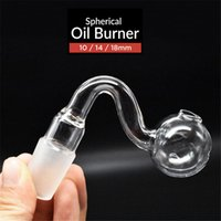 Top quality 10mm 14mm 18mm male female clear thick pyrex glass oil burner pipes for oil rigs glass bongs thick big bowls for smoking