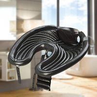 Bassin de lavage des cheveux gonflable 70 * 47 * 5cm Shampooing portable Shampooing Equipement de salon pour lits à la maison Casquettes de douche de voyage de voyage