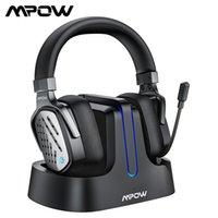 Auriculares inalámbricos MPOW T1 Wireless With With Base Station Surround Sound Gaming Auriculares con micrófono de cancelación de ruido para PC, PS4, Xbox