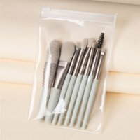 8pcs Makeup brushes kits Wooden handle Eyeshadow Eyebrow Foundation blush Brush Loose powder Lips Face for freshman user MP054