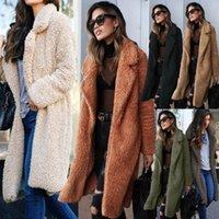 Autumn Winter Faux Fur Coat Women Warm Teddy Coat Ladies Fur Teddy Jacket Female Long Plus Size Outwear Plush Overcoat
