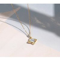 S925 Sterling Silver Zircon Collana con pendente a vento con sensazioni premium moda e gioielli fini