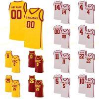 NCAA COLLEGE USC TROJANS Basketball Jersey 21 Onyeka Okongwu 22 Drake London 23 Max Agbonkpolo 24 Brian Scalabrina cosido cosido