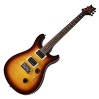 Factory Outlet-6 Strings Brown Electric Guitar with Humbuckers Pickups,Flame Maple Veneer