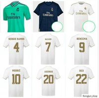 2019 Real Madrid Soccer Jerseys 19/20 N ° 7 N ° 4 Sergio Ramos # 9 Benzema 2020 Kroos Isco Asensio Bale Football Shirts