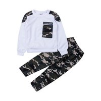 Clothing Sets Brand 2-9Y Toddler Kids Baby Boy Set Pocket Pullover Tops Camo Pant 2PCS Outfits Tracksuit Long Sleeve