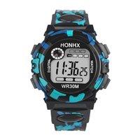 Kinder Multifunktions Wasserdichte Sport Elektronische Uhr Digital Bewegungsuhren Armbanduhr Haltestelle Reloj # 2 Armbanduhren