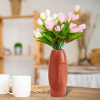 꽃 냄비 꽃병 플라스틱 테이블 센터 홈 장식 웨딩 장식 다중 색상 화병