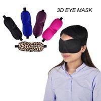 Masque oculaire 3D Éponge Sponge Sand Couvre-tablier Bandes bandes d'ombre Masques de couchage pour les voyages Choisir