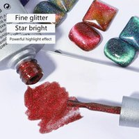 Nail Gel 8ml Magnetic Cat Eyes Polish Glue Shiny Jelly Crystal Art Varnish Decoration Glitter M S7Z2