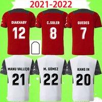 2021 2022 Valencia CF Futbol Formaları C.Soler Gaya 21 22 Guedes Manu Vallejo Futbol Gömlek Piccini M.gomez C.Rive Cheryshev Wass Yetişkin Erkek Kiti Üniforma