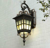 Square Outdoor Wall Lamp Simple Modern Chinese Waterproof Co...