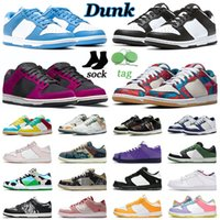 Dunk SB Erkek Kadın Rahat Ayakkabılar Dunks Düşük Zebra Siyah Beyaz Üniversite Mavi Yelken Çok Camo Soyut Sanat Gölge Michigan Erkek Eğitmenler Doğa Sporları Sneakers