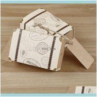 Cadeau Evénement Festive Fête Fournitures Accueil Gardengift Wrap 50pcs Mini Mini Valise Retro Box Candy romantique portable pour mariage1 Drop del