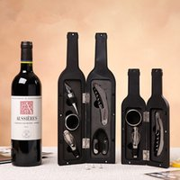 30set / lot 3pcs 5pcs / set de la botella de vino abridor de la botella del tapón de los accesorios del colgador del sacacorchos del sacacorchos para el titular del cortador de la lámina del abridor de vino Herramientas de vino