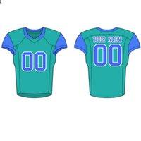 Herren 17 Jersey Top Nähte Logos Football Trikots Hohe Qualität S-XXXL Billig Großhandel Stickerei Logos Blue White77JFDJFDJ