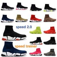 2021 дизайнерская носка спортивная скорость 1.0 2.0 тренеров повседневная обувь роскошные женщины мужчины оригинальные парижские бегуны кроссовки модные носки сапоги пешком
