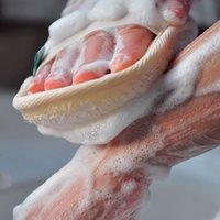 Natural Loofah Body Scrubber Bath Exfoliating Sponge Soft Shower Brushes Cleaner Pad Exfoliator Puff Skin Care Tool 100 pcs DHL