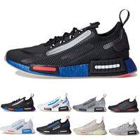 حذاء رياضي رجالي ناسا x NMD R1 Spectoo ثلاثي أسود وأبيض ورمادي غير جامعي وأزرق وفضي وبرتقالي يسمح بمرور الهواء من الرجال والنساء أحذية رياضية رياضية