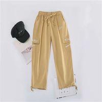 Pantalon de cargaison Femme Hip Streetwear Streetwear Pantalons Streetwear Femmes Casual Joggers Elastic Taille Pantalon Vêtements Vêtements