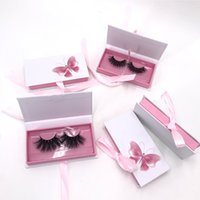 Silk ribbon gift box eyelash packing boxes hold 25mm kkwbeauty fluffy mink lashes rodan and fields lashese with case
