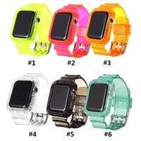 2020 New Transparent one-piece TPU silicone strap For Apple Watch 6 38mm 40mm 42mm 44mm IWatch5 DHL