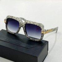كازة الجلد 607 أعلى فاخر جودة عالية مصمم النظارات الشمسية للرجال النساء جديد بيع العالم الشهير أزياء تظهر الإيطالية سوبر ماركة نظارات الشمس العين الزجاج الحصرية