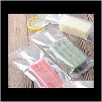 Boîtes transparentes Sac à glace en plastique dentelé Opp Popsicle Pochette Pochette Cuisson Aliments Emballage 819cm Todyr nnwyq