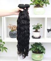 Alinybeauty Wholesale Raw Brazilian Hair 3Bundles Virgin Water Wave 100% Human Hair Weave Unprocessed Cuticle Aligned Hair Extensions 3Pcs lot