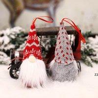Natale peluche giocattolo senza volto Gnome foresta anziano rosso ornamento bambola natale decorazione albero decorazione del partito regalo per bambini hwb10400