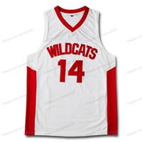 Billig benutzerdefinierte Retro Zac Efron Troy Bolton East High School Basketball Jersey Herren genäht Weiß Jede Größe 2xs-5XL Name und Nummer