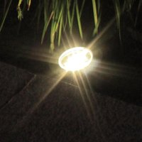 Solar Lamps Underground Light 3LED Piranha Aluminum Cast Lawn Garden Pavement Decorative