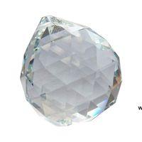 60mm clear bola de cristal facetada bola prism decoração de arte para fotografia decoração de casamento pendurado gota candelabro pingentes decorativos bola dhf6413