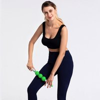 Accesorios Yoga Masaje Roller Stick 3 Bolas Anti Celulitis Masajeador Cuerpo Pie Four Pierna Adelgazante Músculo Relajarse