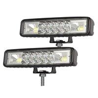 -6 zoll Auto LED-Lichtleiste, 120W Scheinwerfer, 6000k Tageslicht Weiß, Off Road Nebel für LKW Motorradboot, 2 Packung