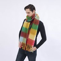 Extra Long Soft Warm Scarf With Tassels Bright Colors Plaid Stripe Cloth Scarves 250cm*36cm