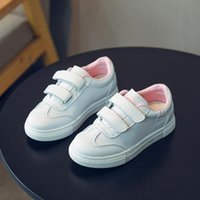 Athletic & Outdoor Boys Sneakers Kids Shoes Baby Girl Toddler Fashion Brand White Leather PU Casual Light Soft Sport Running Children's