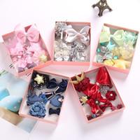 النسخة الكورية من Hairdress Headdress Headdress Girl's Side Collet Jewelry 10 piece مجموعة كاملة حزمة مع مربع هدية كليب جانبي